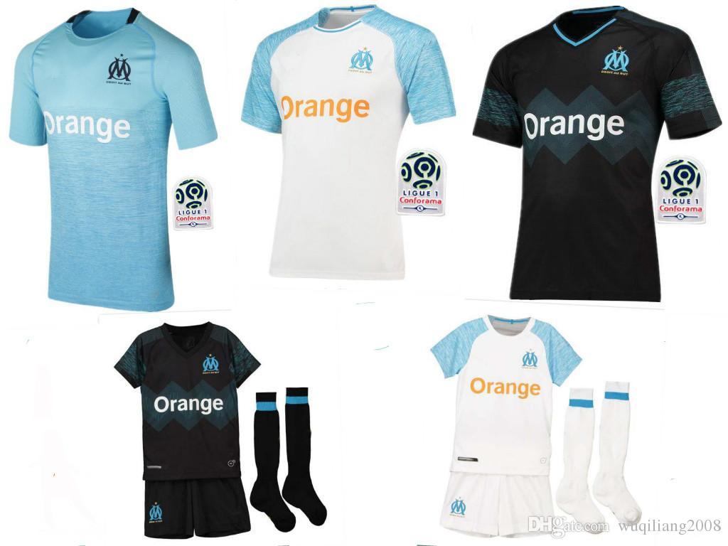 80eb841d7 Compre Olympique De Marseille Homens Camisa De Futebol 2018 2019 OM  Marseille Maillot De Pé Camisa De PAYET L.GUSTAVO THAUVIN 18 19 Camisa De  Crianças De ...
