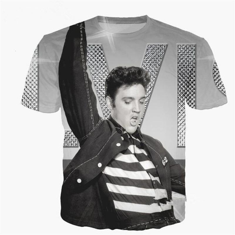 newest fashion popular elvis presley t shirt funny 3d printed women
