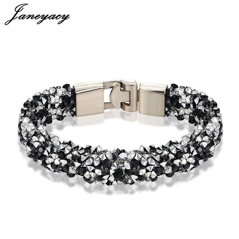 13e9a4fa27a 2019 Janeyacy Brand 2018 New Bracelet & Ladies Bracelet Fashion Rhinestones  Lady Charm Personality Pulsera Mujer From Samtime, $22.68 | DHgate.Com