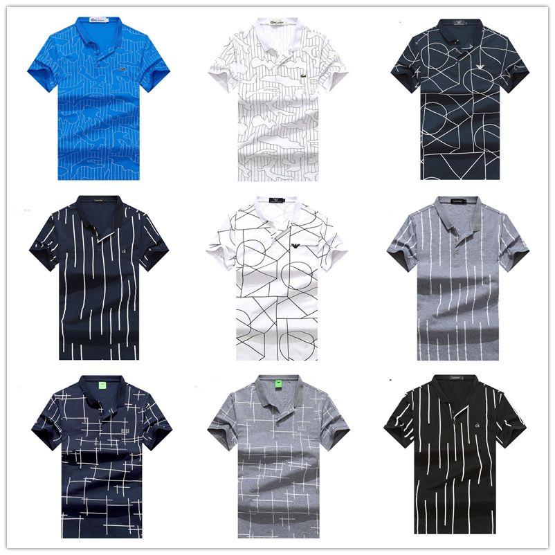 Grosshandel 2018 Beruhmte Golf Business Manner Polo Shirts Langarm