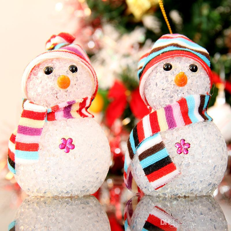 2018 hot sale christmas decorations cute snow man led lights in stock two pieces a package party supplies christmas decorations christmas christmas lights