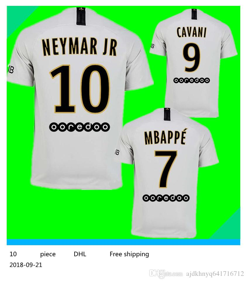 4a6eadd14 2019  7 MBAPPE PSG Away White Soccer Jersey 18 19  10 NEYMAR JR Paris Saint  Germain Soccer Shirt 2019  9 CAVANI Football Uniform 2018 From  Ajdkhnyq641716712 ...