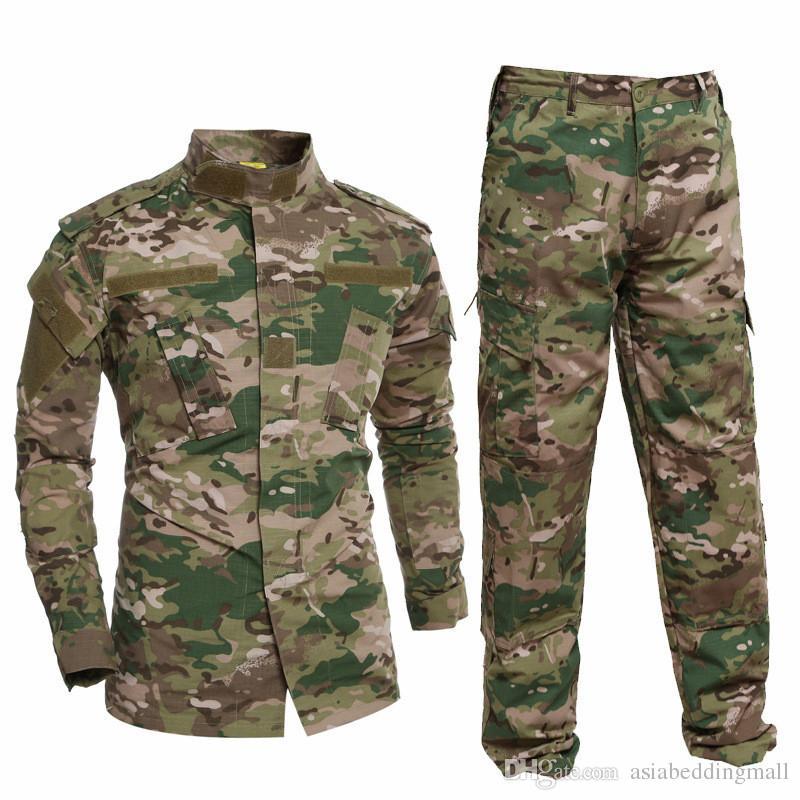 Militäruniform Hemd + Hosen Militär Armee Anzug Dicke Baumwolle Camouflage Anzüge Python Feld Camouflage Uniformen CS Feld