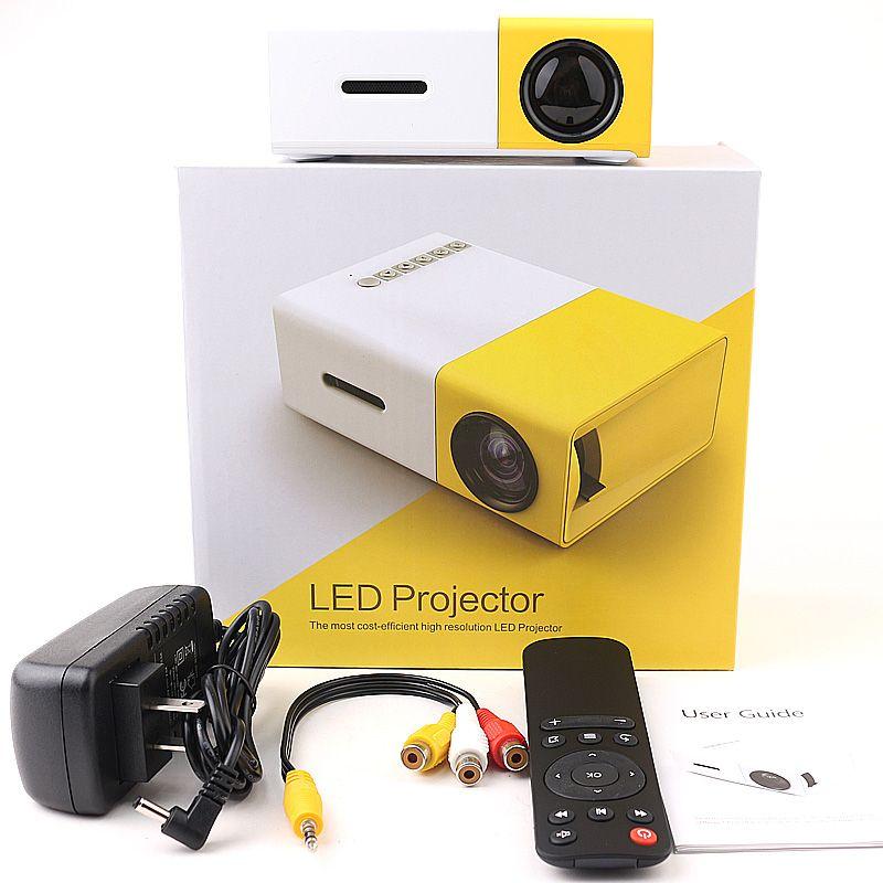 Projecteur Portable YG300 LED 400-600LM 3.5mm Audio 320 x 240 Pixels YG-300 HDMI USB Mini Projecteur Home Media Player