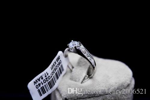 Anniversary 18K white gold gild wedding ceremony ring size 6 T255