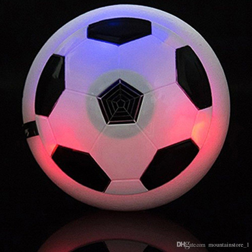 New Air Power Soccer Football Boys Girls Sport Toys Training Football Indoor Outdoor Disk Hover Ball Game with Foam Bumpers Light Up