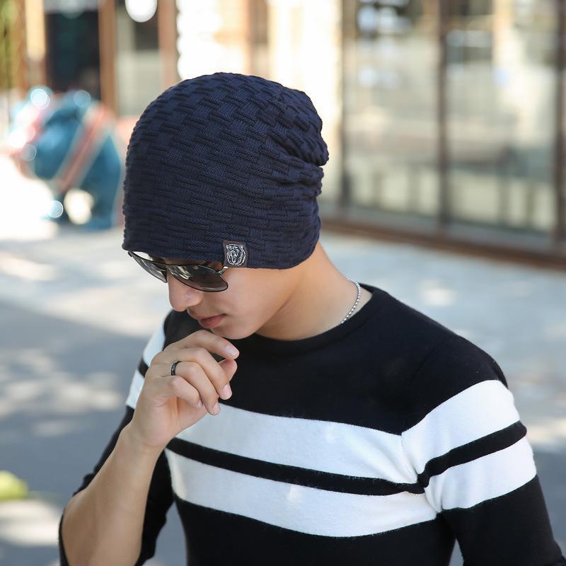 Compre 18 Diseños Hombres Gorros Sombrero De Punto Otoño Invierno Moda  Parche Gorra De Punto Gorra Niños Espesar Cobertura Gorra De Pasamontañas  Skullies ... 5f51ced3bbc