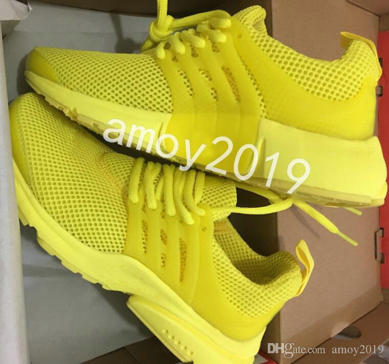 check out 34028 a18dc 2018 Presto Running Shoes Men Women BR QS Yellow Prestos Pink Oreo Outdoor  Jogging Mens Trainers Sneakers Zapatos Size 36-46