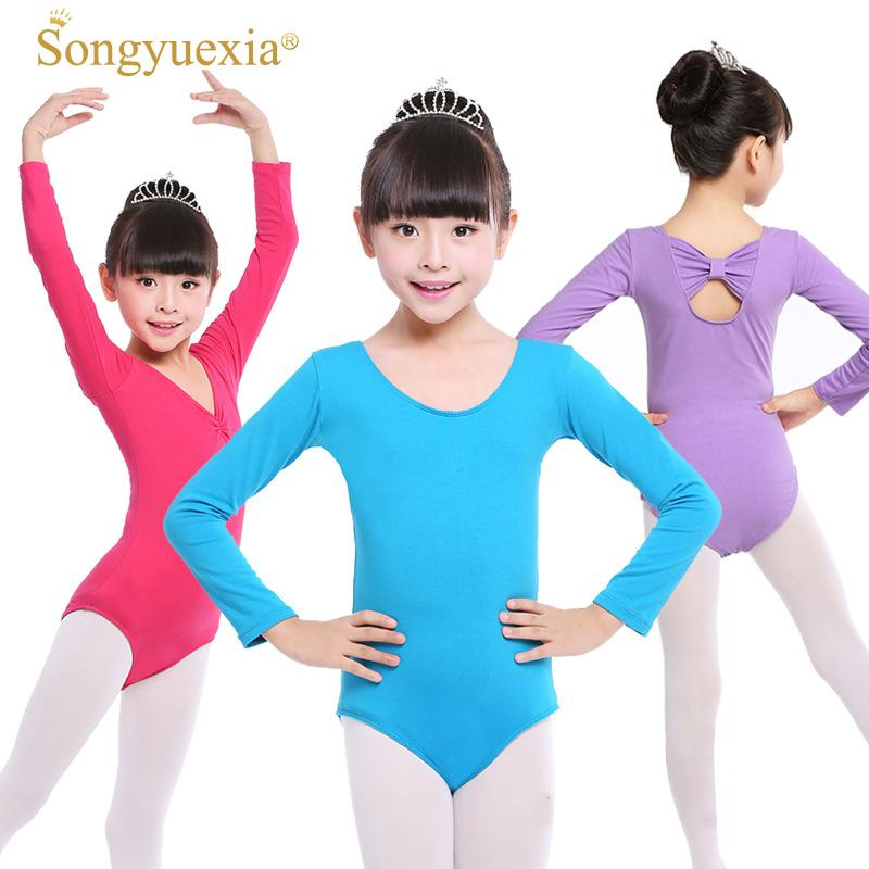 ff346cf7ba94 2019 Songyuexia Children/Woman Gymnastics Leotard Dancewear Girl Pure Cotton  Long Sleeve Ballet Dancewear For Kid 100 170cm From Boniee, $37.32    DHgate.Com