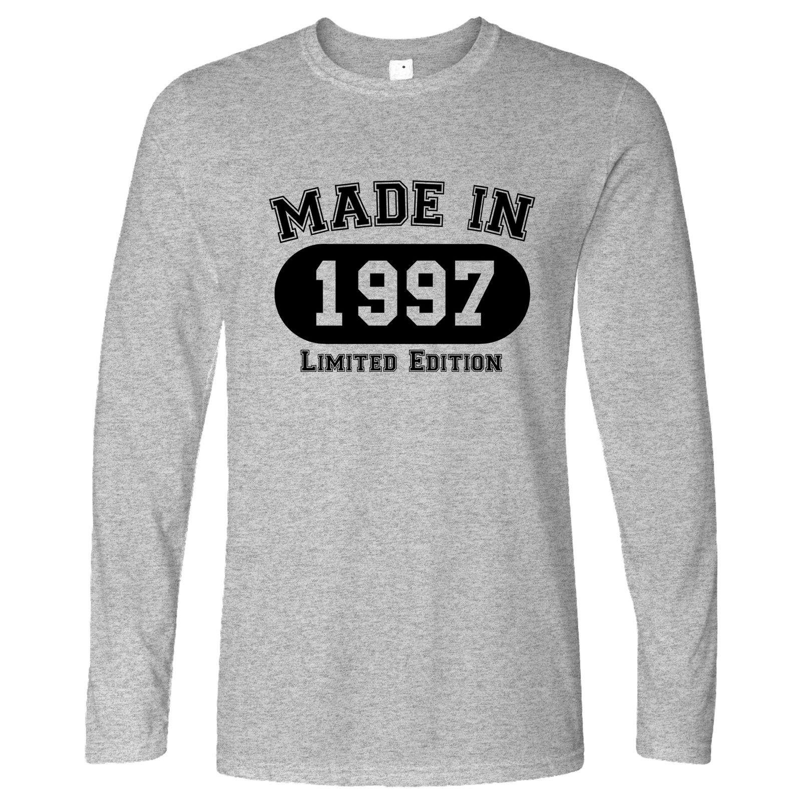 21st Birthday Long Sleeve Made In 1997 Limited Edition Printed Gift Idea T Shirts Deals Super Cool From Banwanyue5 1584
