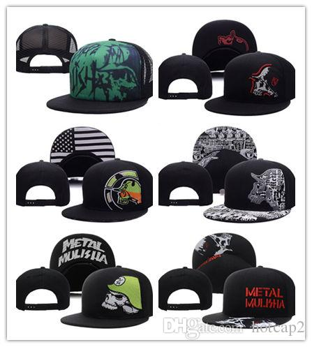 24708995 Top Selling Metal Men's Party Trucker Snapback Hat Black cool Sports Hats  caps,wholesale new men Fashion Adjustable Snapbacks ball Hat cap