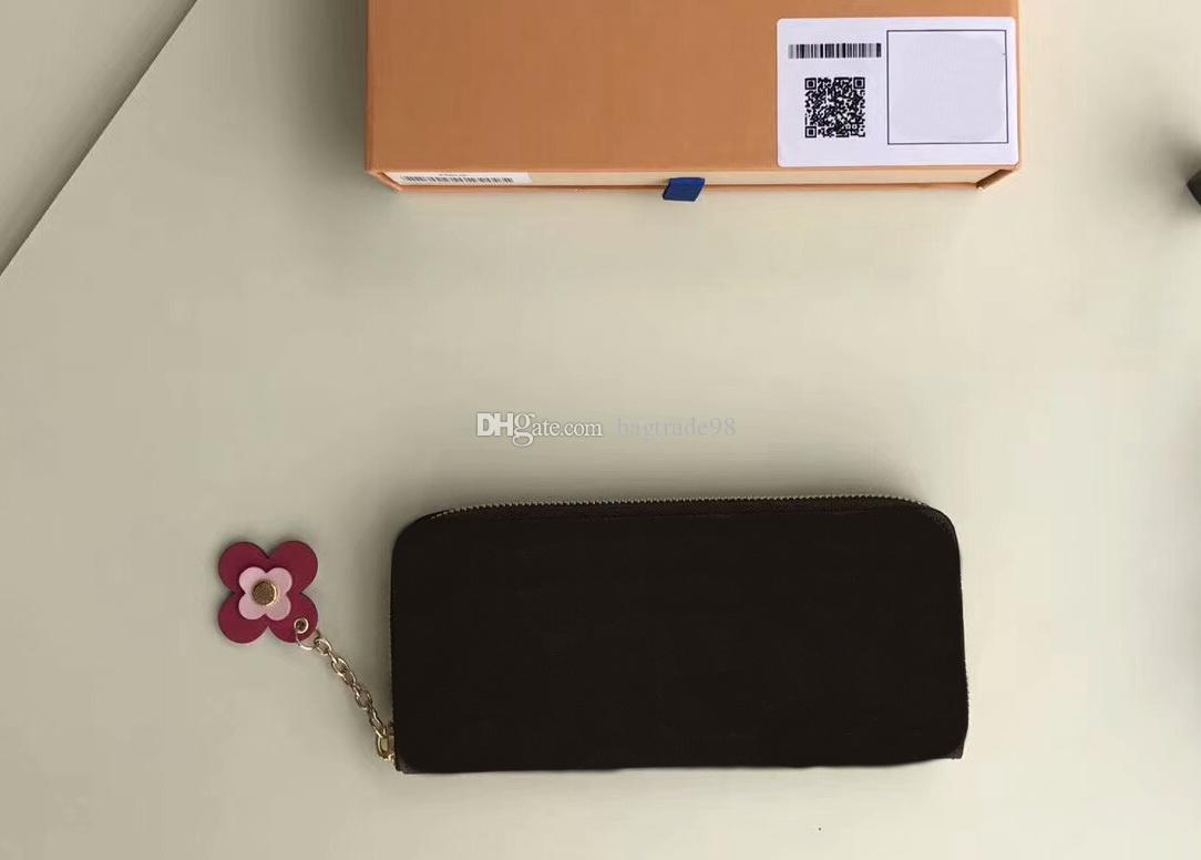 promo code 257d4 e8ac0 Famous Brand Women Genuine Leather Long Single Zipper Wallets M64201 with  dustbag box zippy card Holder tanon Purses CX#293 Bags