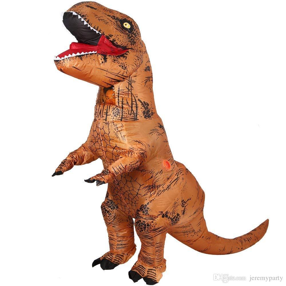 Compre Hot T Rex Dinosaurio Traje Inflable De Halloween Traje