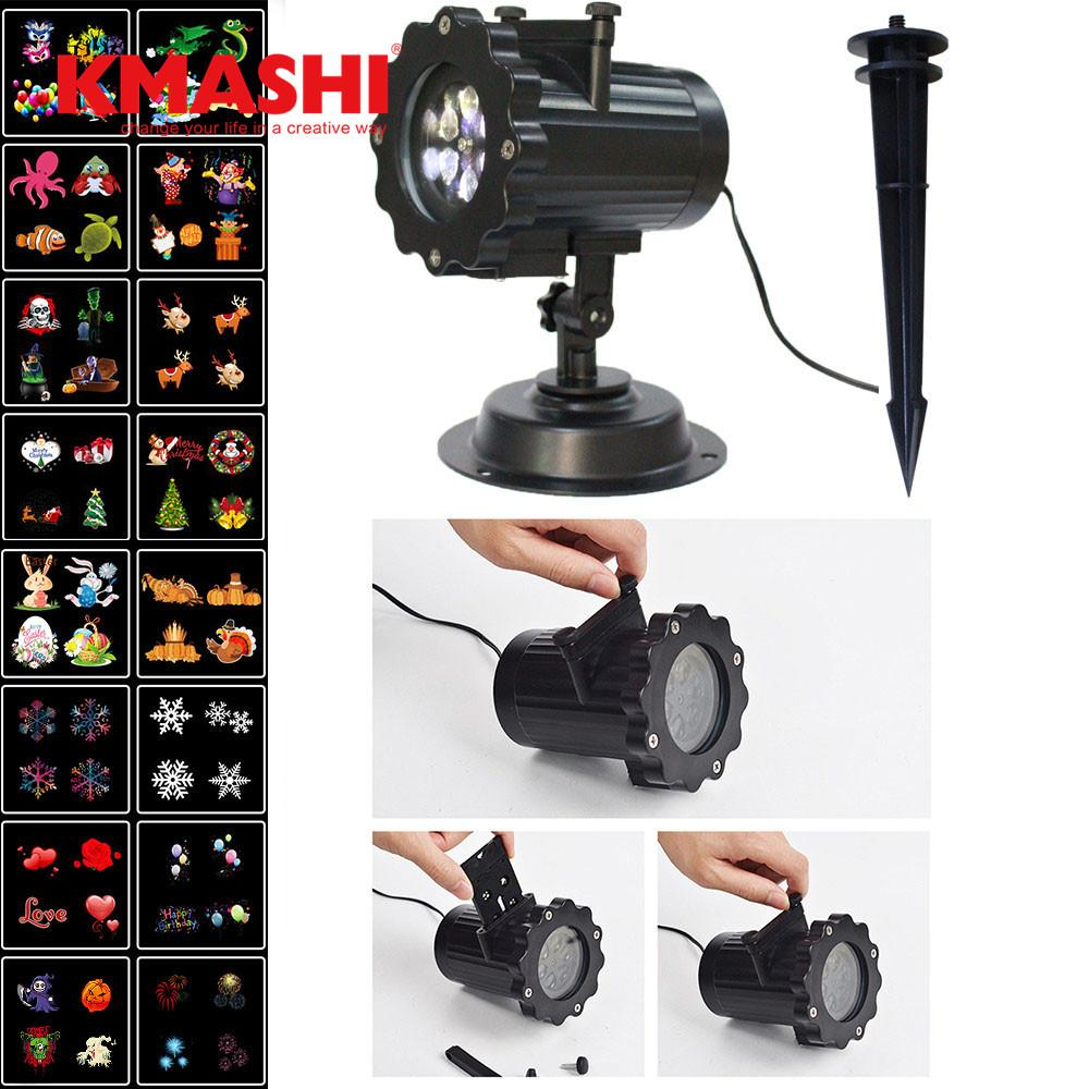 2018 Kmashi Pattern Lens Christmas Led Projector Light Show Outdoor ...