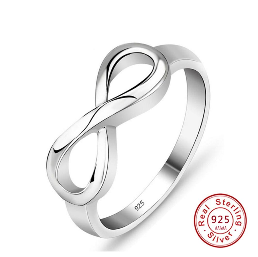USA Seller Tiny Infinity Ring Sterling Silver 925 Best Price Jewelry Selectable