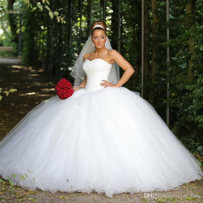 Sparkly Ball Gown Wedding Dresses: Vintage Ball Gown Wedding Dresses Puffy Skirt Sweetheart