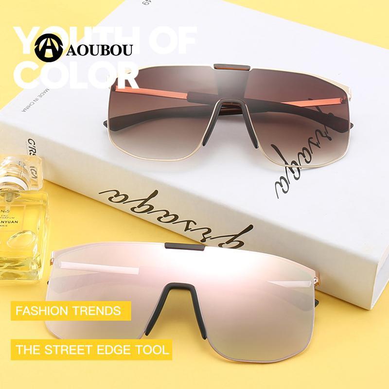 8a391ccb8e4 Oversized Round Sunglasses Women 2018 One Lens Trend Oculos Feminino Lentes  De Sol Mujer Lentes De Sol Hombre Steampunk Lunette Steampunk Lunettes  Round ...