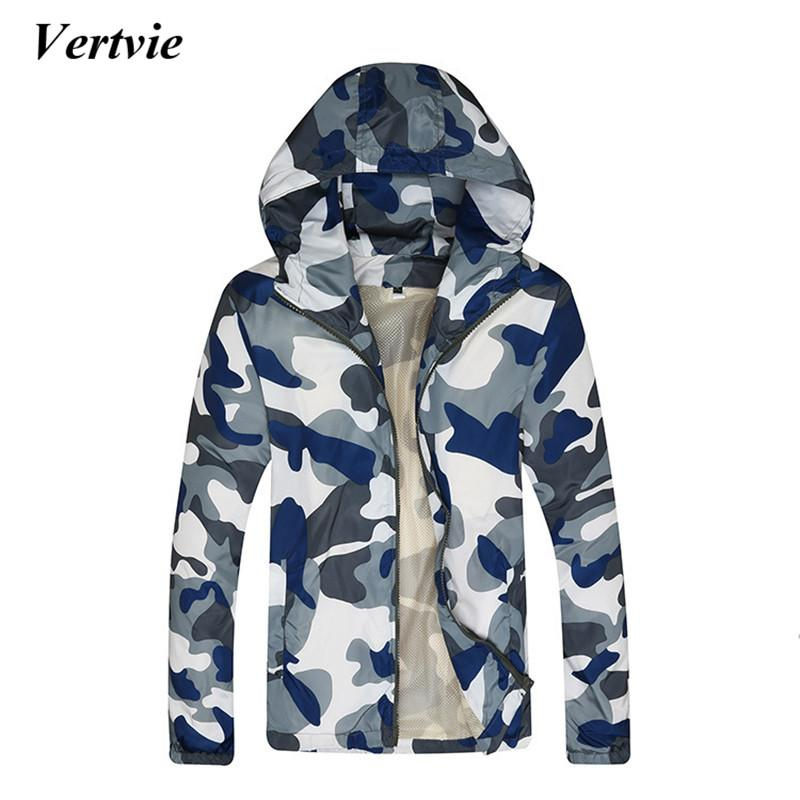 e676932514f45 2019 Wholesale Vertvie Camouflage Mens Hooded Sports Jacket Running Hiking  Costume For Fishing Clothes Long Sleeve Pactwork Quick Dry Jackets From  Comen, ...