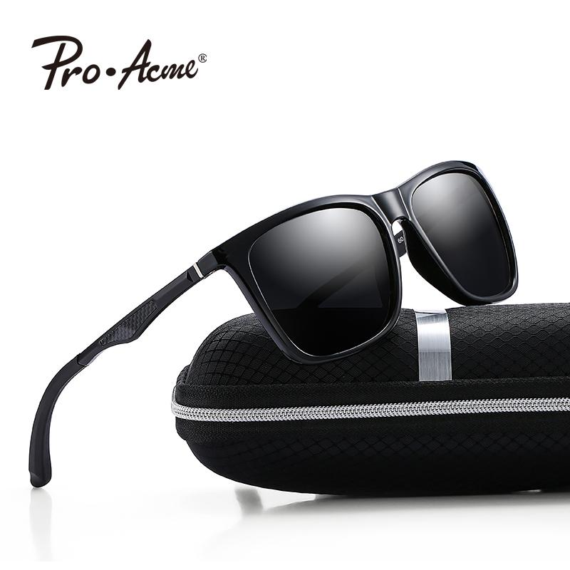 5dbd354e27ac Pro Acme Men Polarized Sunglasses Vintage Square Frame Eyewear Male Driving  Travel Sun Glasses For Women UV400 Protection P0978 Eyewear Designer  Sunglasses ...