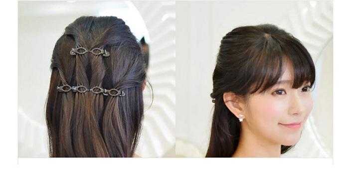 hair clip barrettes hairpins hairgrips for Women girl Hair Accessories headwear holder bun bang simple easy use wave design