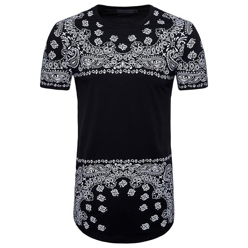 95670202ab Brand New Clothing Mens Long Length Black T Shirt 2018 Hip Hop ...