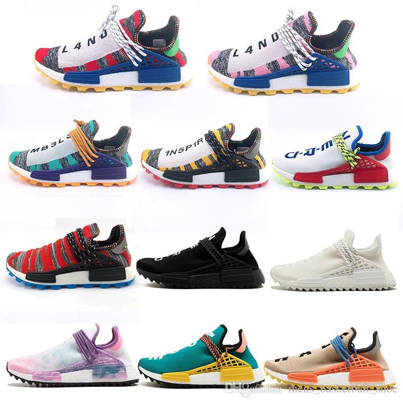 900868a4fb5a2 NERD Human Race Hu Trail X Pharrell Williams Sports Sneaker Men Running  Shoes Solar Pack Afro Holi Blank Canvas Mens Trainers Women Sneakers Sale  Womens ...