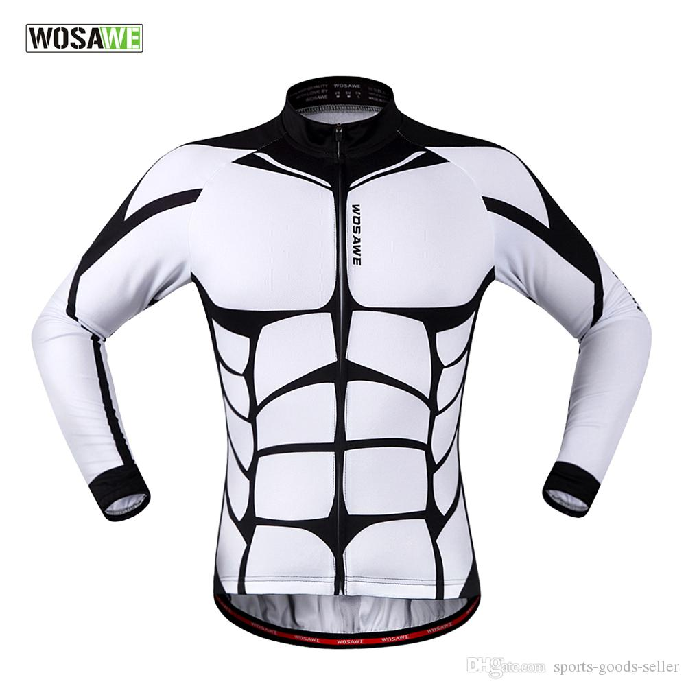 3e1a381a9 Wosawe 2018 Unique Design Coolmax Sublimated Printing Custom Cycling Jerseys  No Minimum Breathable Long Sleeve For Spring Autumn Cycling Jacket  Waterproof ...