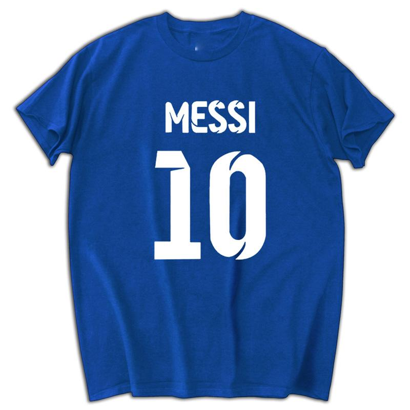 best website eae4c aa512 Hot Sell 2018 Fashion 2017 Lionel Messi Shirt T shirt Men Short sleeve  T-shirt Cotton Tops Argentina jersey Tee brand clothing