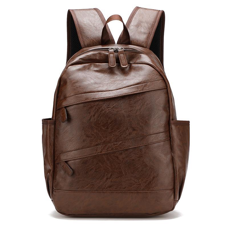 9956c050fe Dropshipping 2018 Waterproof Laptop Backpack Men Pu Leather ...