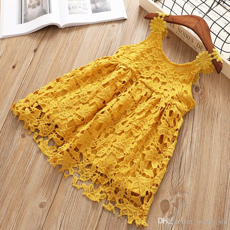 4709527ae032 BABY SHOW Lace Dress Summer Dress Lace Condole of the Girls Children ...