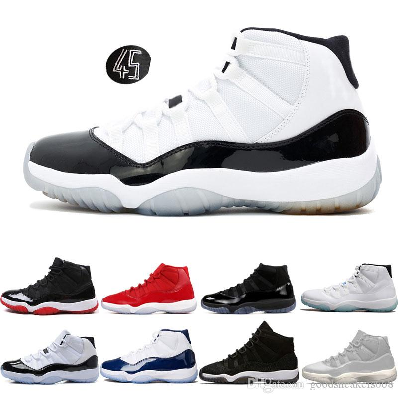 Mens Basketball Shoes 11 11s Concord 45 Cap And Gown Prom Night Gym Red Bred  Gamma Blue Prm Heiress Barons Sports Sneakers Basketballs Shoes Mens From  ... 9bacaeead6c8