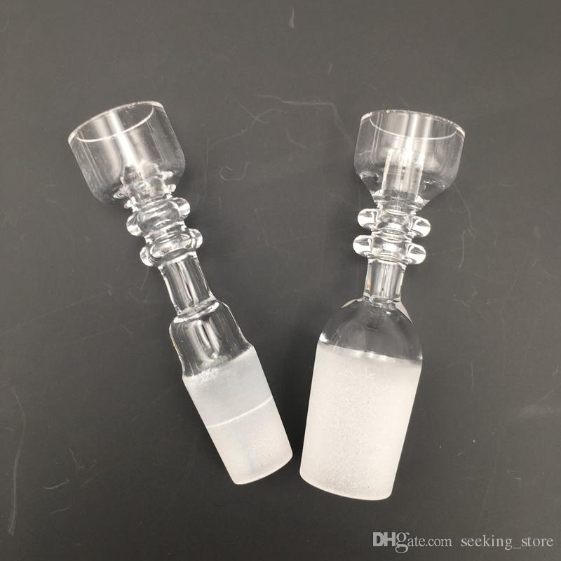 14.5mm 18.8mm Maschio Joint Chiodo al quarzo 100% reale olio Rigs Dab Bong Chiodo al quarzo di alta qualità Accessori fumatori RQB03-04