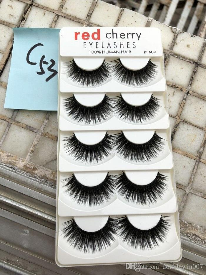 27c8a1bbb19 RED CHERRY False Eyelashes Natural Long Eye Lashes Extension Makeup  Professional Faux Eyelash Winged Fake Lashes Wispies False Eyelashes Lash  Extensions ...