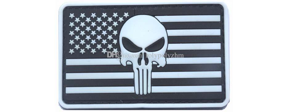 Brand New American Flag Punisher Skull High Quality Rubber PVC Badge Clothing Backpack Bag Cap Patch Boost Morale armbands