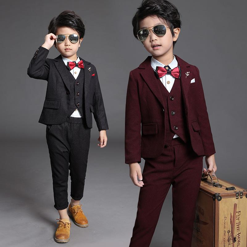 2019 2018 New Children Suit Baby Boys Suits Kids Blazer Boys Formal Suit  For Weddings Boys Clothes Set Jackets+Vest+Pants 2 12Y From Anglestore 3b362a332f84