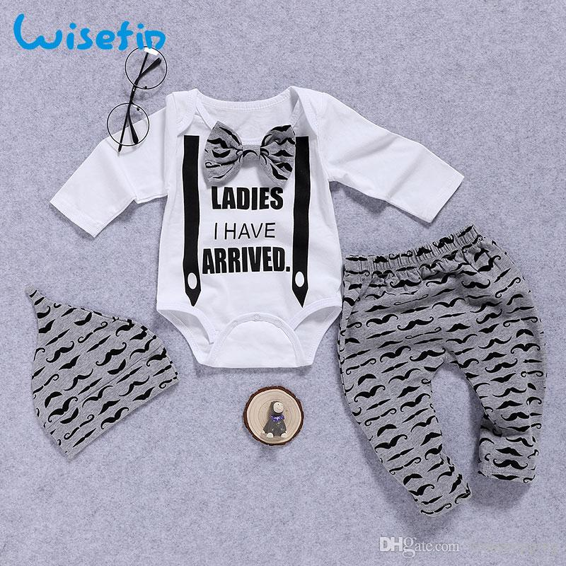 8b64a0057a55 Wisefin Newborn Clothing Set Baby Boys Set Bow Tie Infant Clothes 0 ...