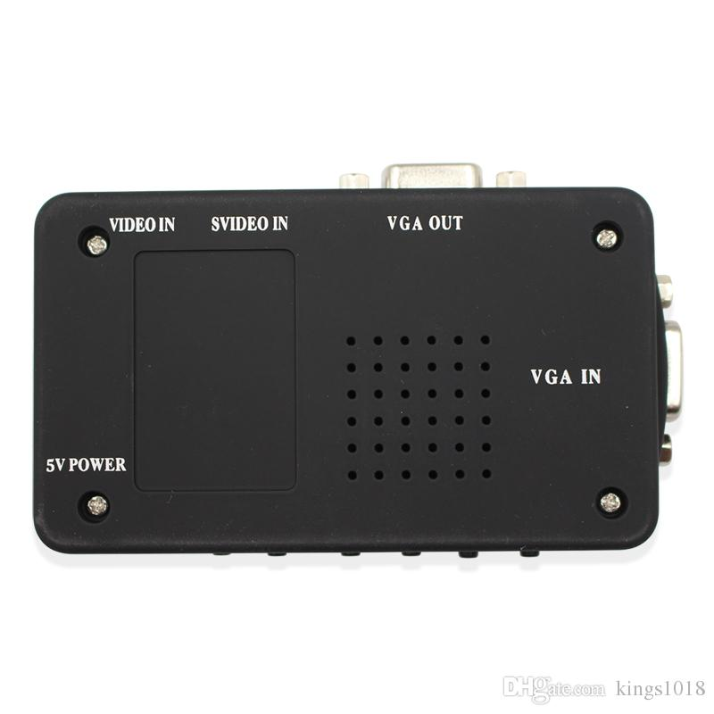 AV to VGA TV Signal Converter Adapter S-video to VGA Switch Conversion for PC Notebook