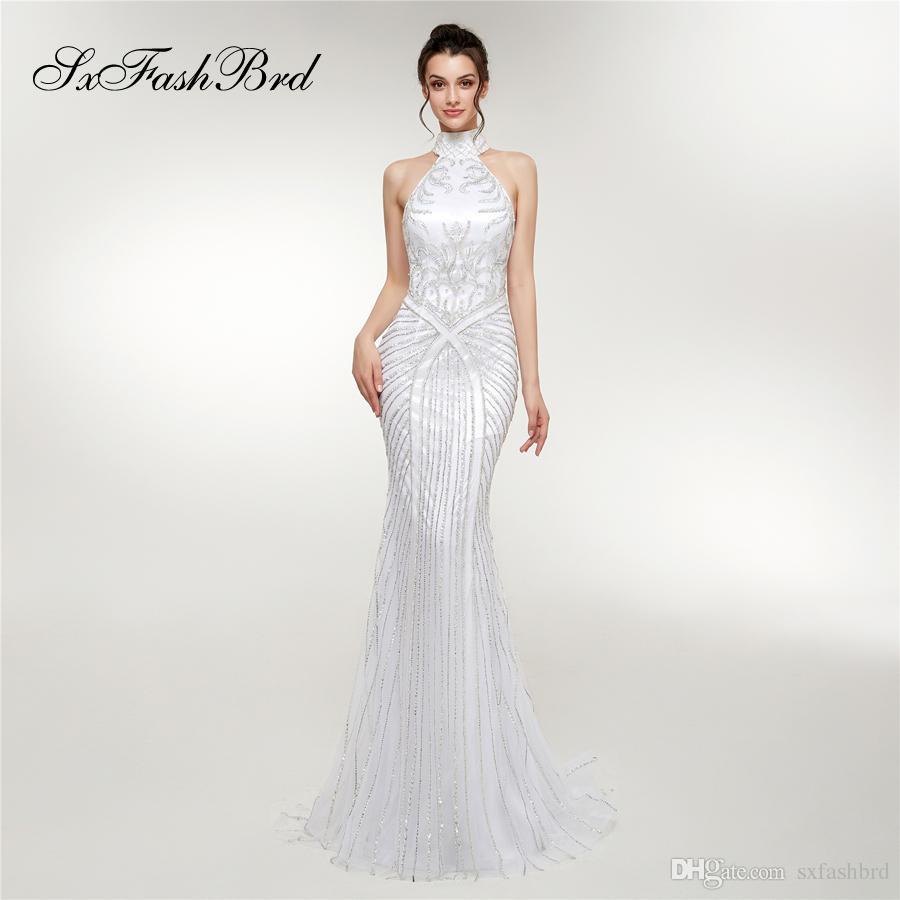 Special Occasion Dresses Elegant Dress Halter Mermaid Accented