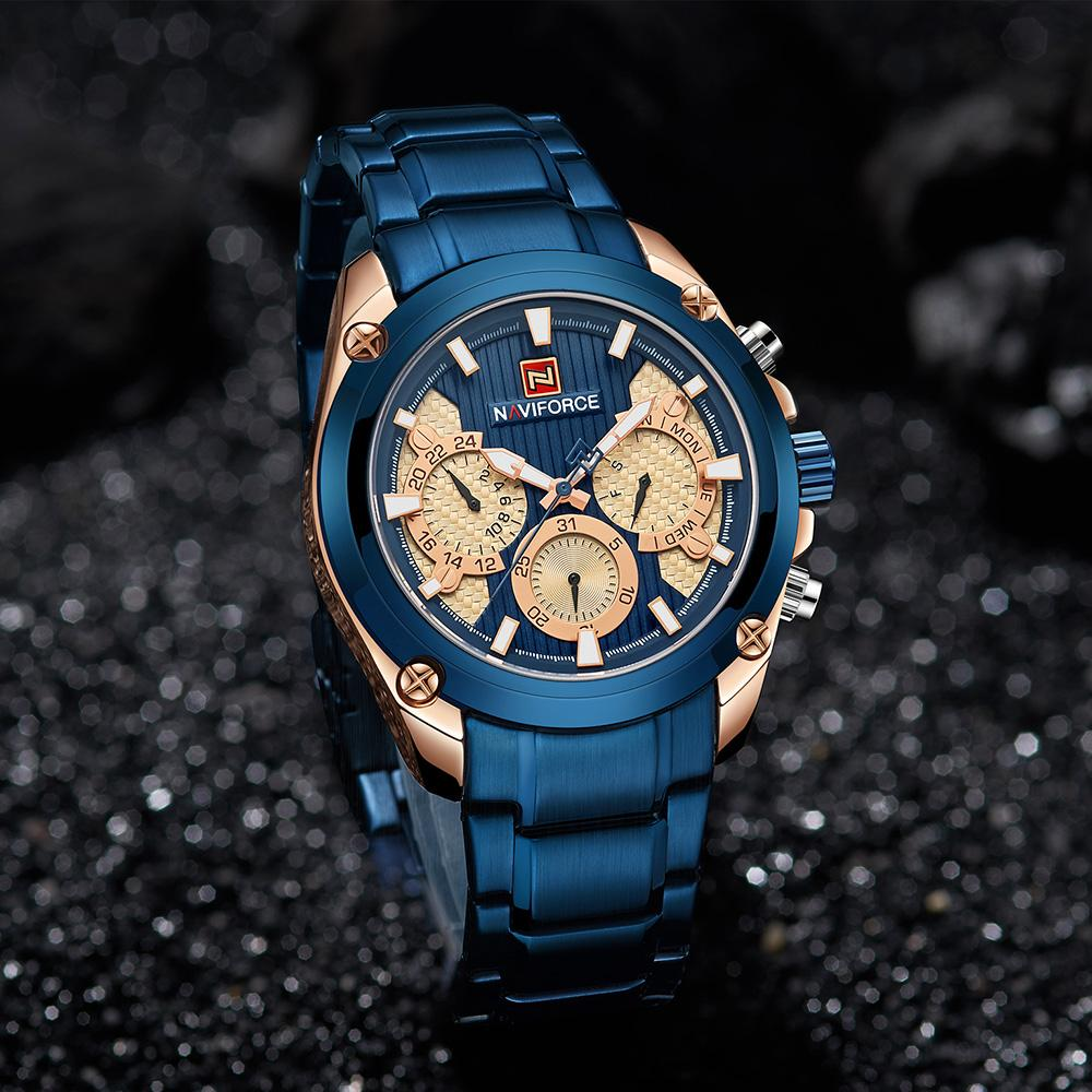 127d5d85cb6d Top Brand Luxury NAVIFORCE Blue Gold Watch Men Fashion Sport Quartz Mens  Watches Full Steel Waterproof Watch Relogio Masculino Online Shopping For  Wrist ...