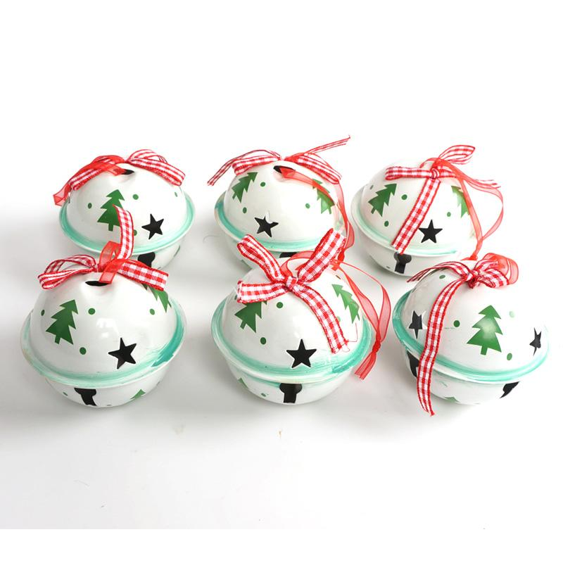 wholesale christmas jingle bell green white metal tree christmas ornament for home 6560mm large bell for christmas tree decorations traditional christmas - Large Christmas Bells Decorations