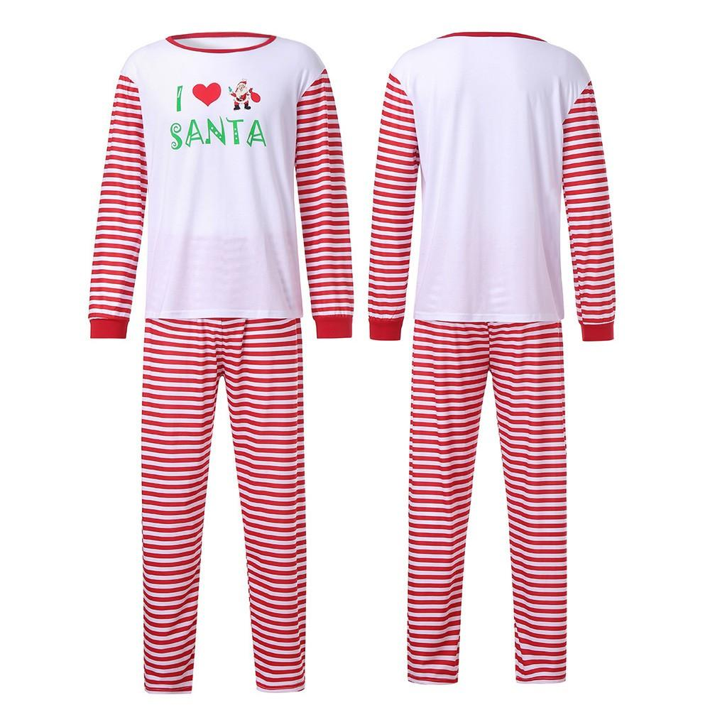 e4859f6262a9 2019 2018 Man Family PJS Matching Christmas Pajamas Set Blouse +Santa  Striped Pants Long Sleeve Daily Christmas Man Pants  25 From Hoeasy