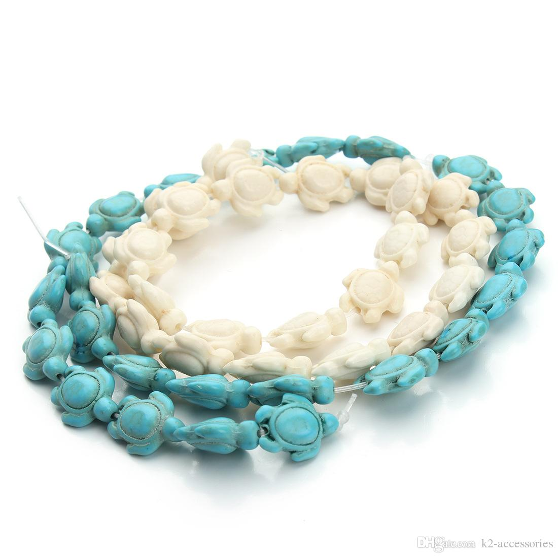 1 Strand White Howlite Turquoise Carved Skull Spacer Beads Jewelry Decor