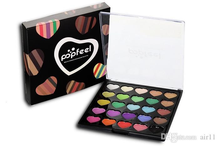 العلامة التجارية الجديدة POPFEEL 25 لون شكل قلب ماكياج لوحة ظلال ماكياج لوحات 2 أنماط في حرية الملاحة في الأوراق المالية