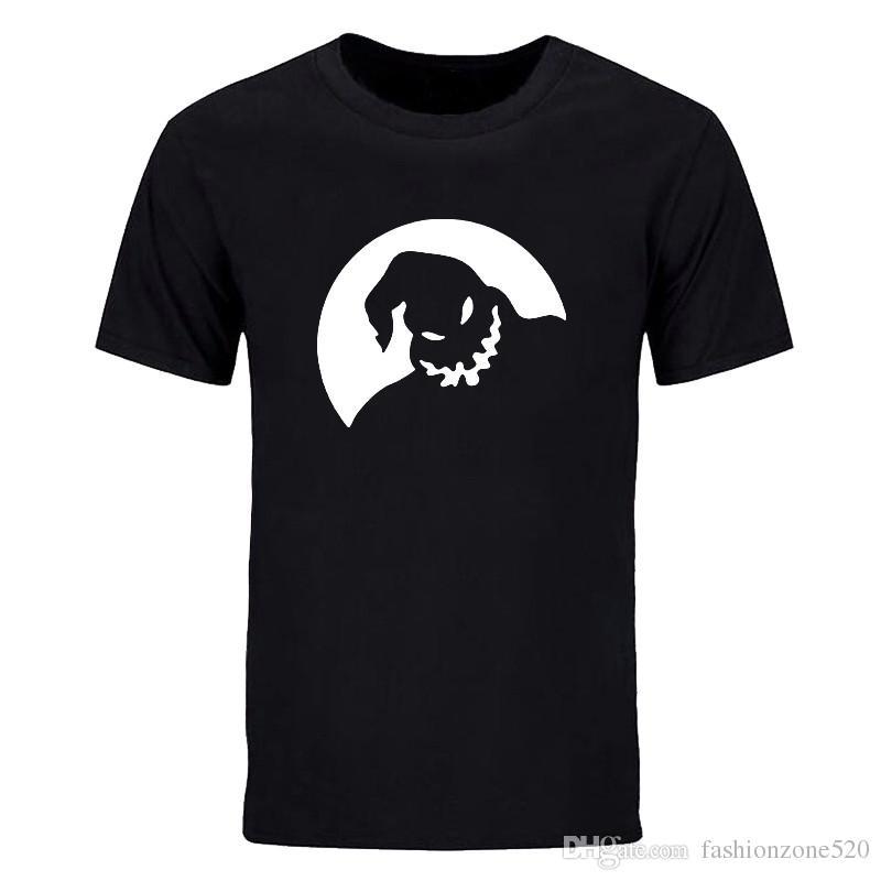 Engraçado manga curta T shirt Homens America Filme Oogie Boogie impresso Camisa do Dia Das Bruxas Traje Vestido de Moda casual tripulação pescoço tops tees DIY-0792D