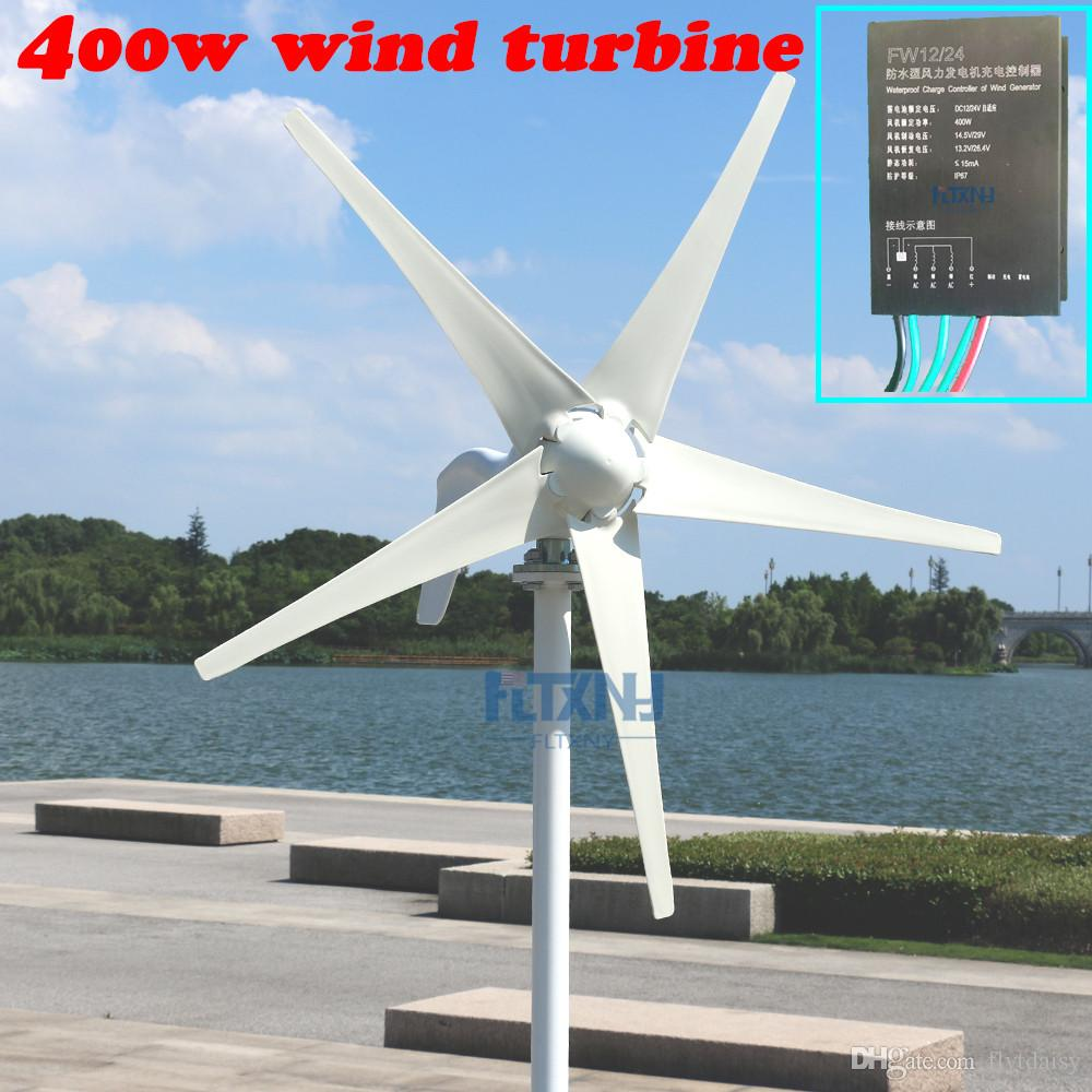 Lowest price 400w wind turbine/generator 12v/24v for home use with free  controller 12V24V AUTO