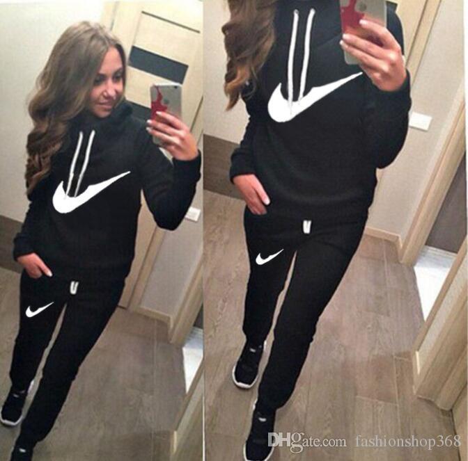 Women sport suit Hoodies Sweatshirt +Pant Running Sport Track suit jogging sets survetement femme clothing
