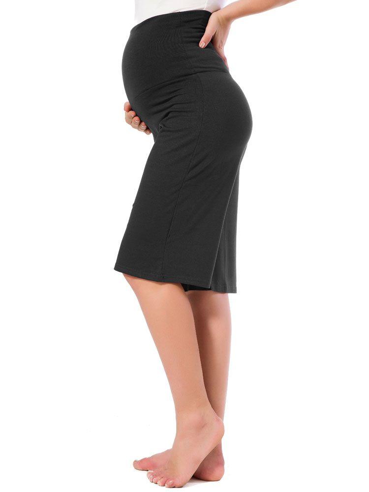 39c41ff6be6 Women s Maternity Shorts Wide Straight Comfortable Knee Capri Lounge ...