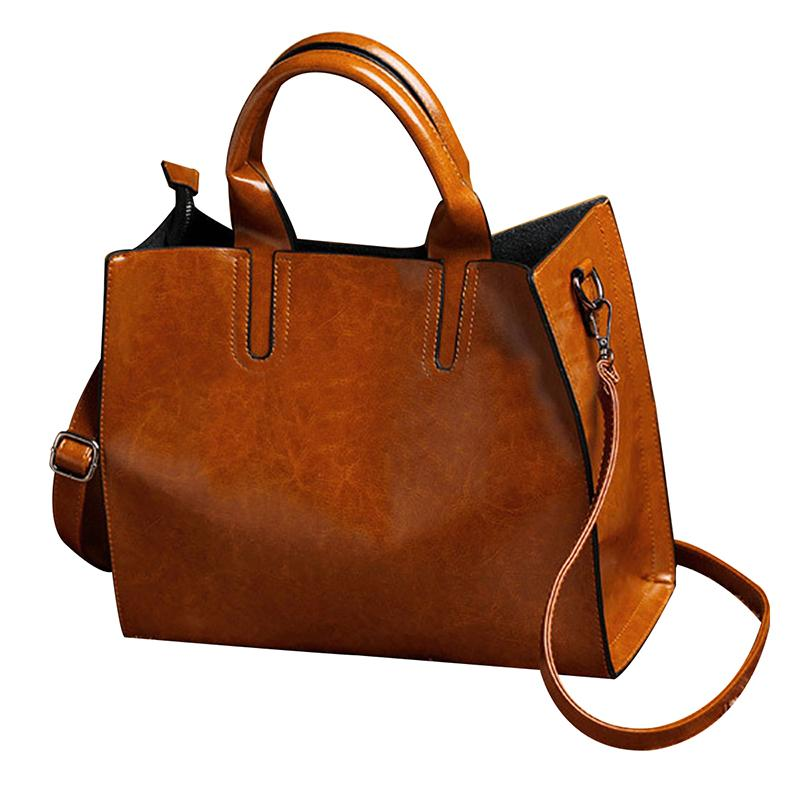 27766f1833d3 Women Leather Handbag Purse Messenger Lady Shoulder Crossbody Bag Tote  Satchel Leather Handbags Bag Tote Women Leather Handbags Online with   32.62 Piece on ...