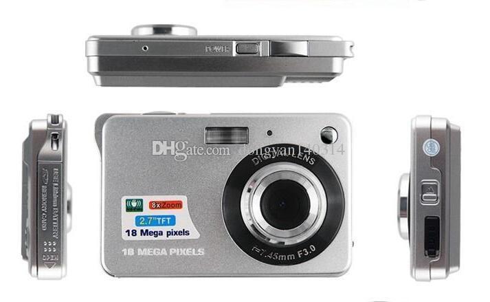 K09 Ultra-thin Card Digital Camera 18 Mega Pixels 2.7 Inch TFT LCD Screen CMOS Children Kids Gift Camcorder Sports Mini Camera