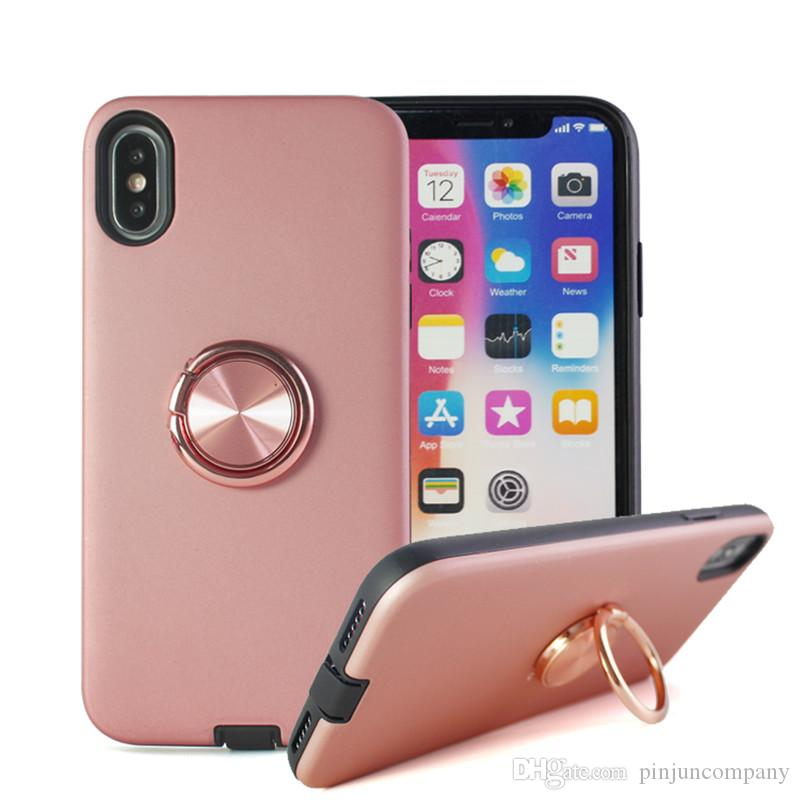 Per iPhone 9 6.1 Custodia in TPU ibrido per PC Armor Phone Custodia 2 in 1 per iphone 9 plus 6.5 con supporto